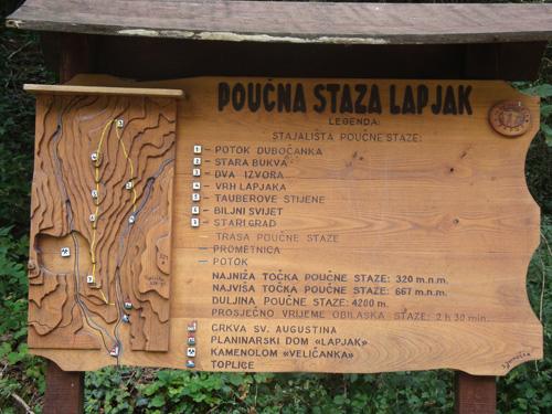 Poučna staza Lapjak (foto: Željka Majić)
