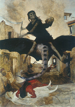 Arnold Böcklin: Die Pest (1898) (foto: Wikimedia Commons)