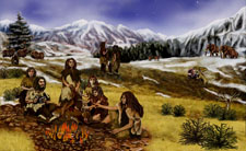 Neandertalci_umjetnički prikaz (foto: Wikimedia Commons)