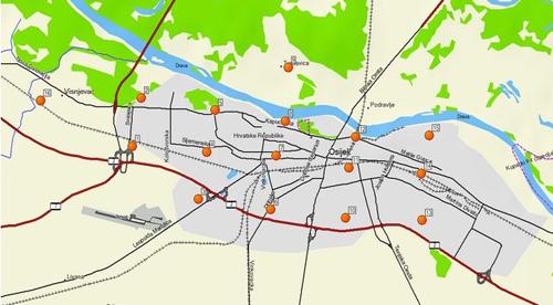 Mjerne postaje za komarace u Osijeku  (foto: UNIOS)