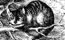 Cerigradska mačka (ilustracija: John Tenniel, Wikimedia Commons)