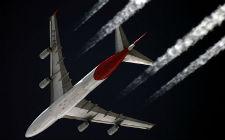 Avion i kondenzacijski tragovi (foto: Wikimedia Commons)