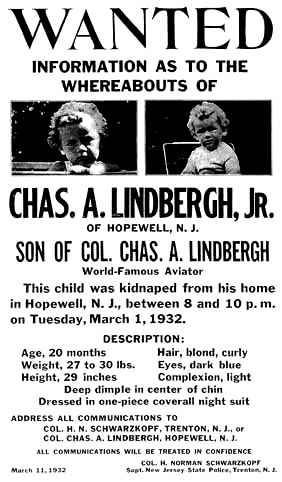 Otmica Lindberghovog djeteta (izvor: Wikimedia Commons)