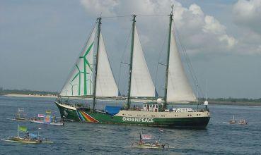 Greenpeaceov brod Rainbow Warrior (foto: Wikimedia Commons)