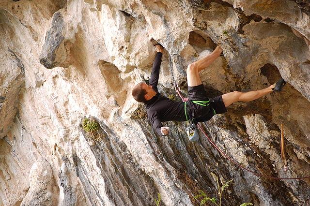 Penjanje po stijenama (foto:commons.wikimedia.org)