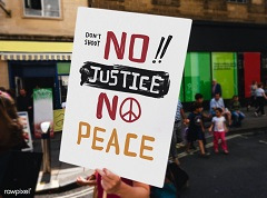 No justice, no peace (foto: RowPixel)